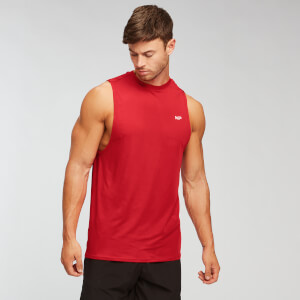 Camiseta sin mangas Essentials Training para hombre de MP - Rojo