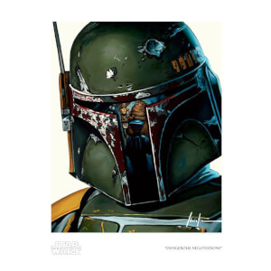 Star Wars: Return Of The Jedi - Dangerous Negotiations Giclee Print by Christian Waggoner