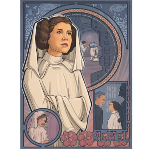 "Star Wars: A New Hope ""Princess Of Rebels"" Lithograph Print by Karen Hallion"