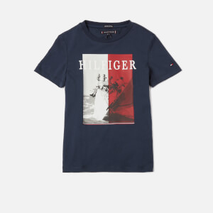 Tommy Kids Boys' Photoprint T-Shirt - Twilight Navy