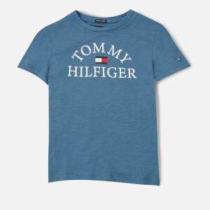 Tommy Kids Boys' Essential Arch Logo T-Shirt - Audacious Blue