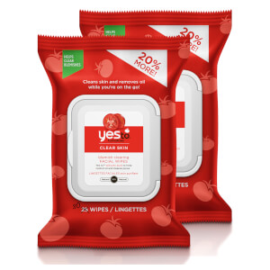 yes to Tomatoes Clear Skin Blemish Clearing Facial Wipes (Pack of 2) (Worth £7.98)