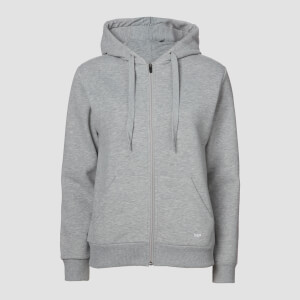 MP Essentials Zip Through Hoodie - Grey Marl