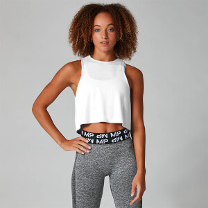 MP Damen Reach Crop Top - Weiß