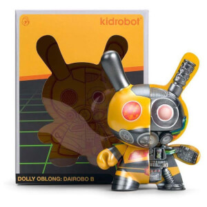 Kidrobot Dairobo-B Mecha Half Ray by Dolly Oblong 5 Inch Dunny Figure