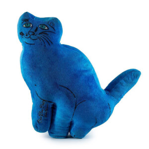 Kidrobot Blue Cat Pillows Plush by Andy Warhol