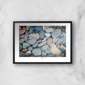 Talacre Pebbles Giclée Art Print