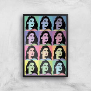 Multi Colour Pop Girl Giclée Art Print