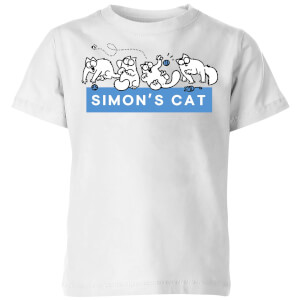 Simons Cat Playful Cat Kids' T-Shirt - White