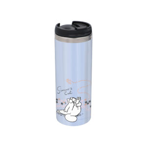Simons Cat Butterfly Stainless Steel Thermo Travel Mug