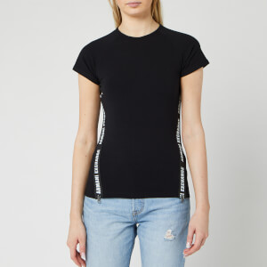 Armani Exchange Women's Short Sleeve Taping T-Shirt - Black