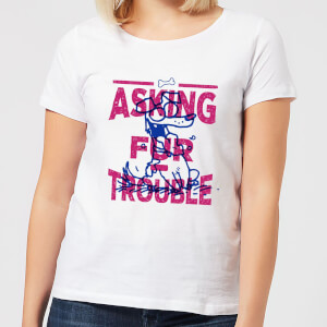 Simons Cat Asking Fur Trouble Women's T-Shirt - White
