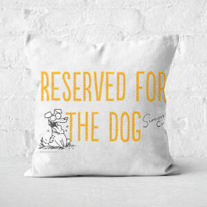 Simons Cat Reserved For The Dog Square Cushion