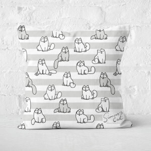 Simons Cat Waiting Cats Square Cushion