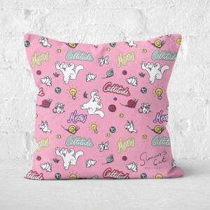 Simons Cat Cattitude Bright Square Cushion