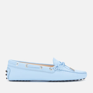 Tod's Women's Gommino Lace/Eyelets Driving Shoes - Placid Blue