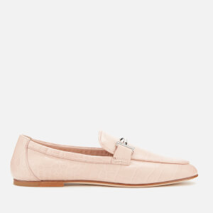 Tod's Women's Leather Double T Moccasin Loafers - Pink