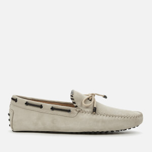 Tod's Men's Suede 2 Tone Driving Shoes - Mole