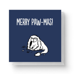Simons Cat Merry Paw-Mas Square Greetings Card (14.8cm x 14.8cm)