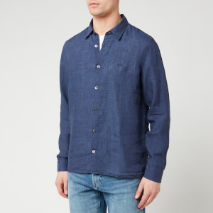 A.P.C. Men's Chemise Vincent Shirt - Marine