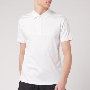 Emporio Armani Men's Zip Collar Polo Shirt - White