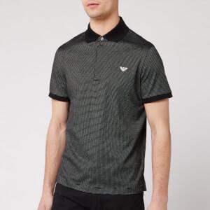Emporio Armani Men's Dot Detail Polo Shirt - Black