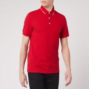 Emporio Armani Men's Collar Logo Polo Shirt - Red