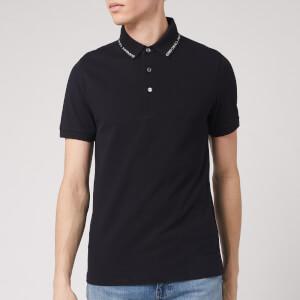 Emporio Armani Men's Collar Logo Polo Shirt - Navy