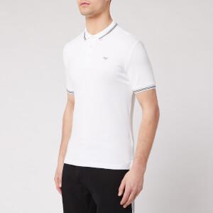 Emporio Armani Men's Tipped Polo Shirt - White
