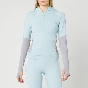adidas by Stella McCartney Women's Long Sleeve Hooded Top - Steel Blue