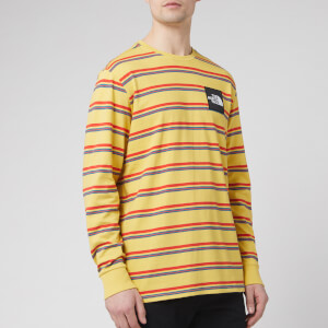 The North Face Men's Boruda Long Sleeve T-Shirt - Bamboo Yellow Stripe