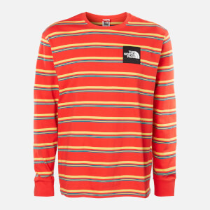 The North Face Men's Boruda Long Sleeve T-Shirt - Fiery Red Stripe