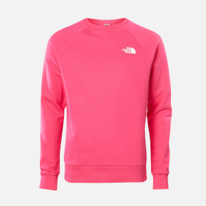 The North Face Men's Raglan Redbox Crew Neck Sweatshirt - Mr. Pink