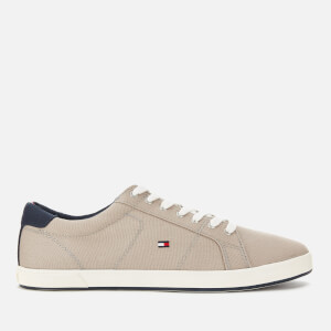 Tommy Hilfiger Men's Iconic Long Lace Trainers - Stone