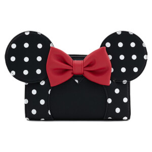 Loungefly Disney Minnie Mouse Blk/Wht Polka Dot Wallet