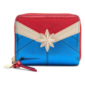 Loungefly Marvel Captain Marvel Classic Cosplay Zip Around Wallet