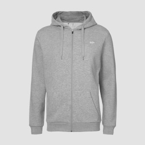 MP Men's Essentials Zip Through Hoodie - Grey Marl