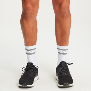 MP Reflective Crew Socks - White