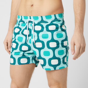Frescobol Carioca Men's Large Ipanema Sports Swim Shorts - Khaki/Pistachio