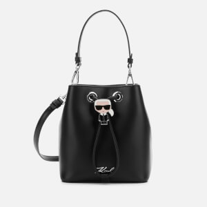 Karl Lagerfeld Women's K/Ikonik Bucket Bag - Black