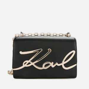 Karl Lagerfeld Women's K/Signature Small Shoulder Bag - Black/Gold