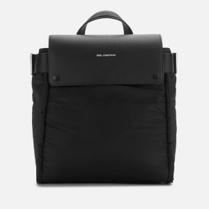 Karl Lagerfeld Women's K/Ikon Nylon Backpack - Black