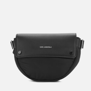Karl Lagerfeld Women's K/Ikon Nylon Belt Bag - Black