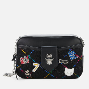 Karl Lagerfeld Women's K/Studio Tweed Camera Bag - Black Multi