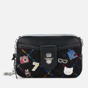Karl Lagerfeld Women's K/Studio Tweed Camera Bag - Black Multi