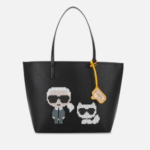 Karl Lagerfeld Women's K/Pixel Karl & Choupette Tote Bag - Black