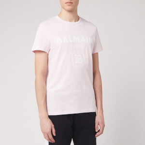 Balmain Men's Flock Balmain T-Shirt - Rose