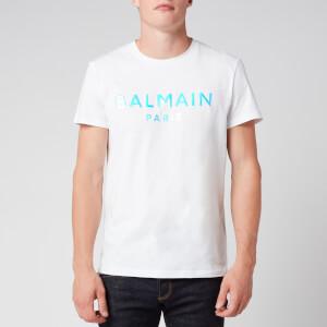 Balmain Men's Hologram Balmain T-Shirt - White