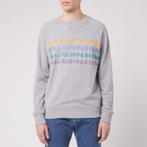 Balmain Men's Printed Balmain Sweatshirt - Grey