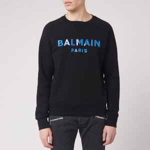 Balmain Men's Silicone Balmain Sweatshirt - Black/Blue